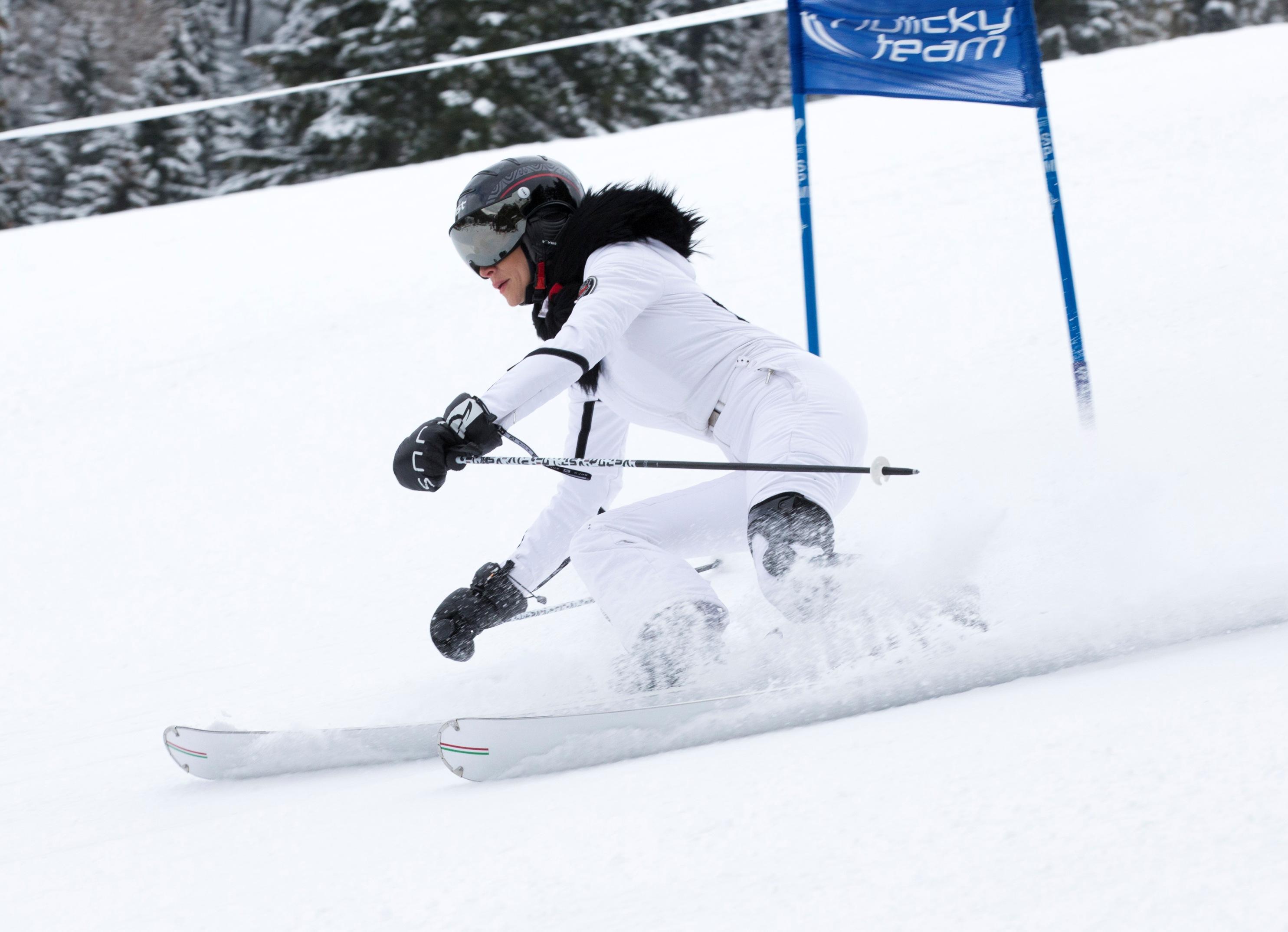 Andrea Verešová na lyžích