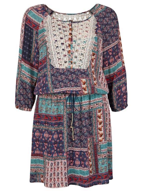 Etno šaty Esprit s krajkou 1999,- Kč