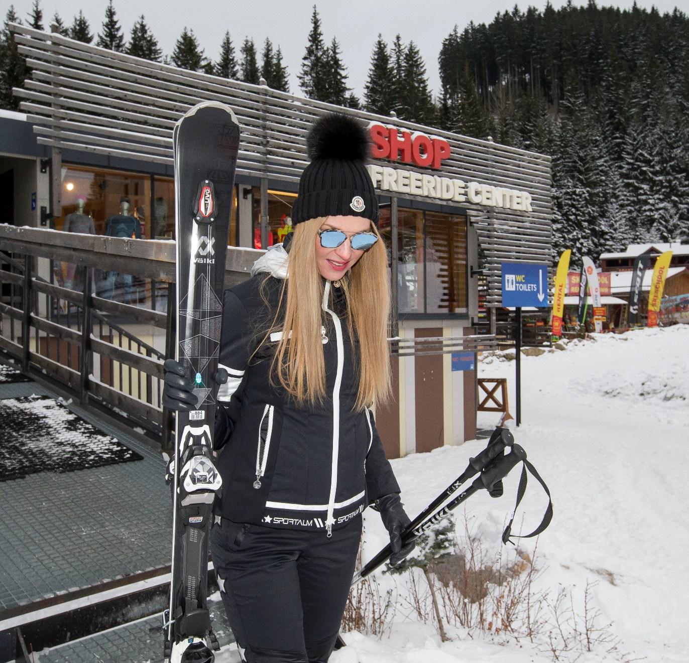 Ze společnosti / Pavlína Němcová s lyžemi