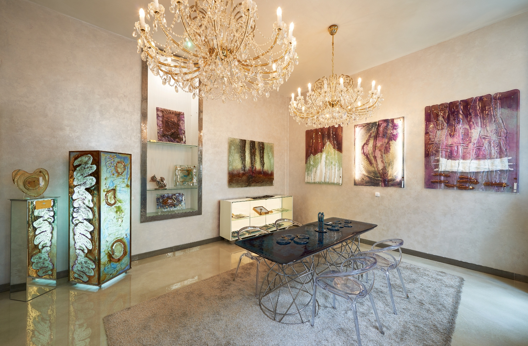 Tipy a zajímavosti / Umělkyně Gordana Glass tvoří i skleněné interiéry