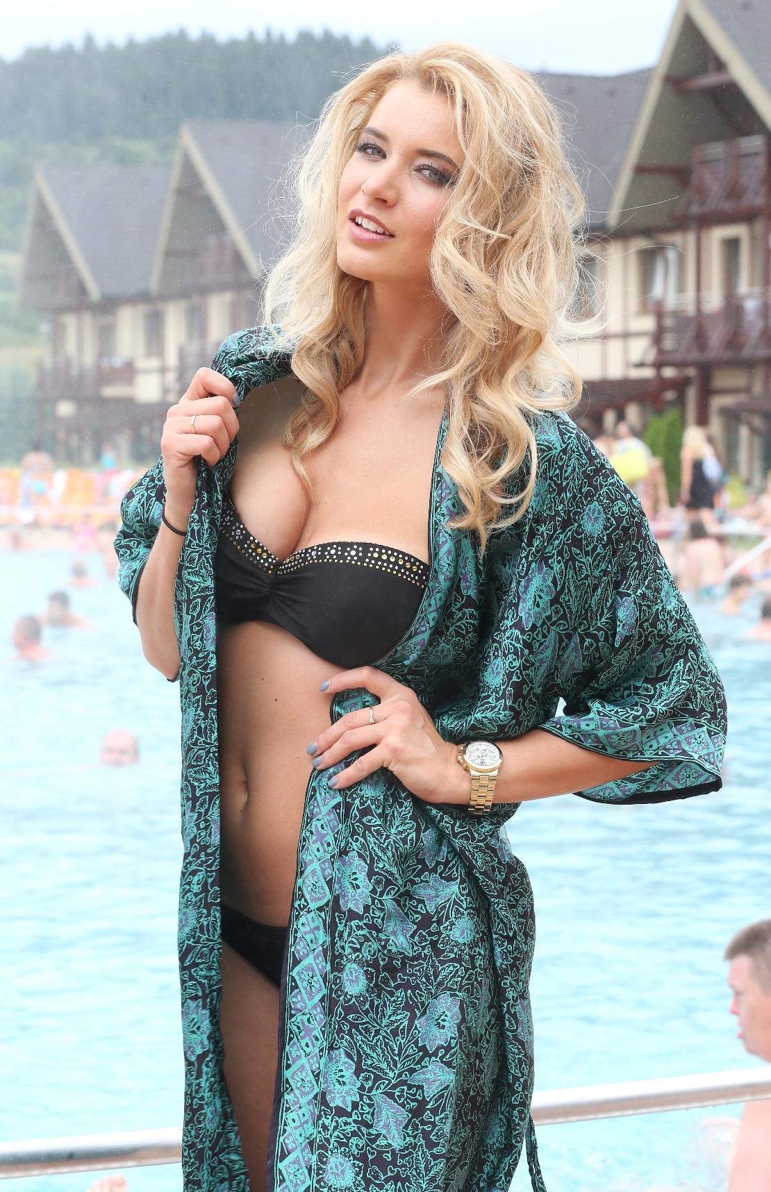 Vodní ráj v Bešeňové zdobila i modelka a Česká Miss 2014 Gábina Franková
